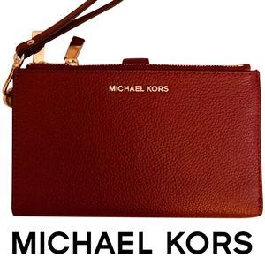 Michael Kors Leather Wallet Wristlet